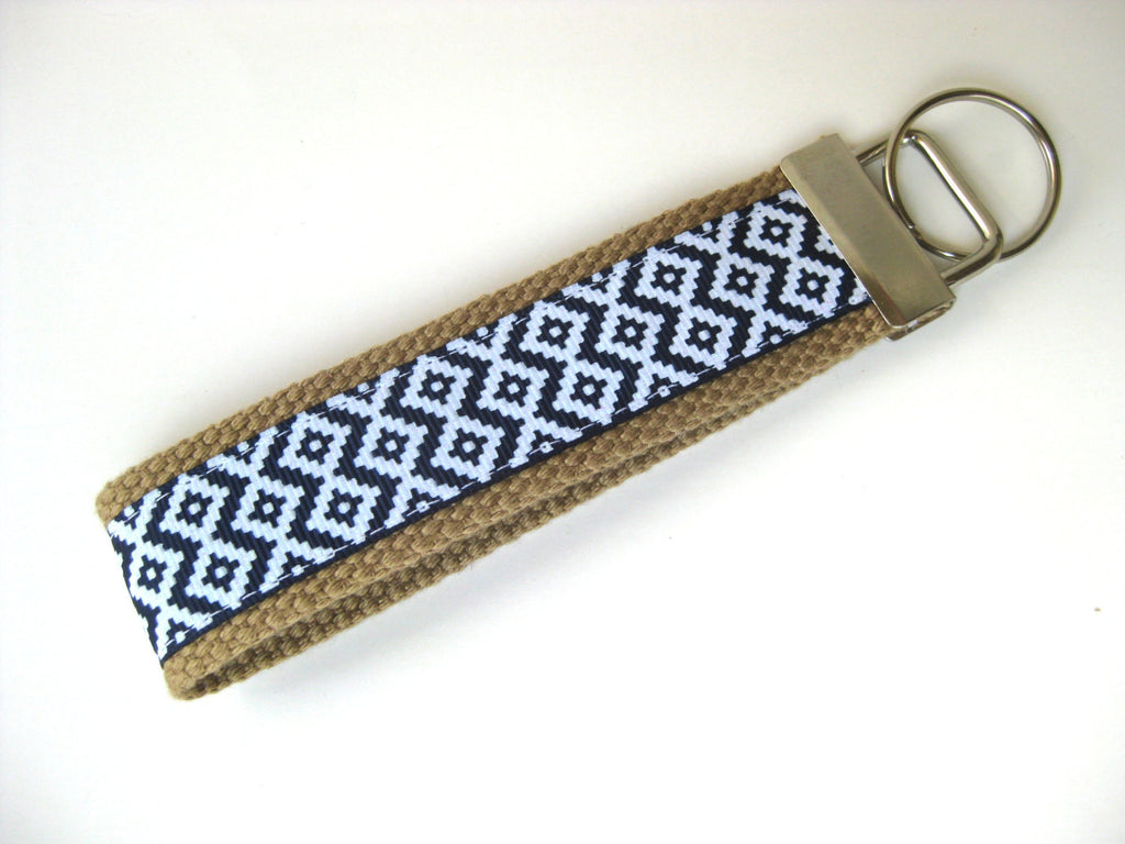 2094a0088314 Navy Aztec Tribal KEY FOB Wristlet- Wrist Keychain for Her- Key Lanyard for  Women- Wristlet Key Chain- Gift for Her- Womens Gift Under 10