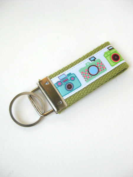 Cute Cameras Key Fob- Retro Film Camera Womens Keychain