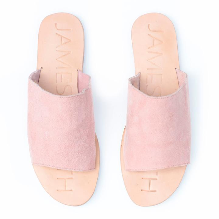 James Smith | Off Duty Sandals in Pink Suede