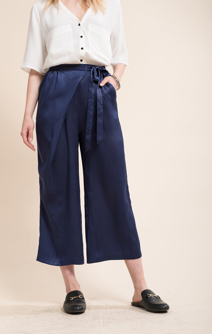 Moon River | Satin Waist Tie Pants
