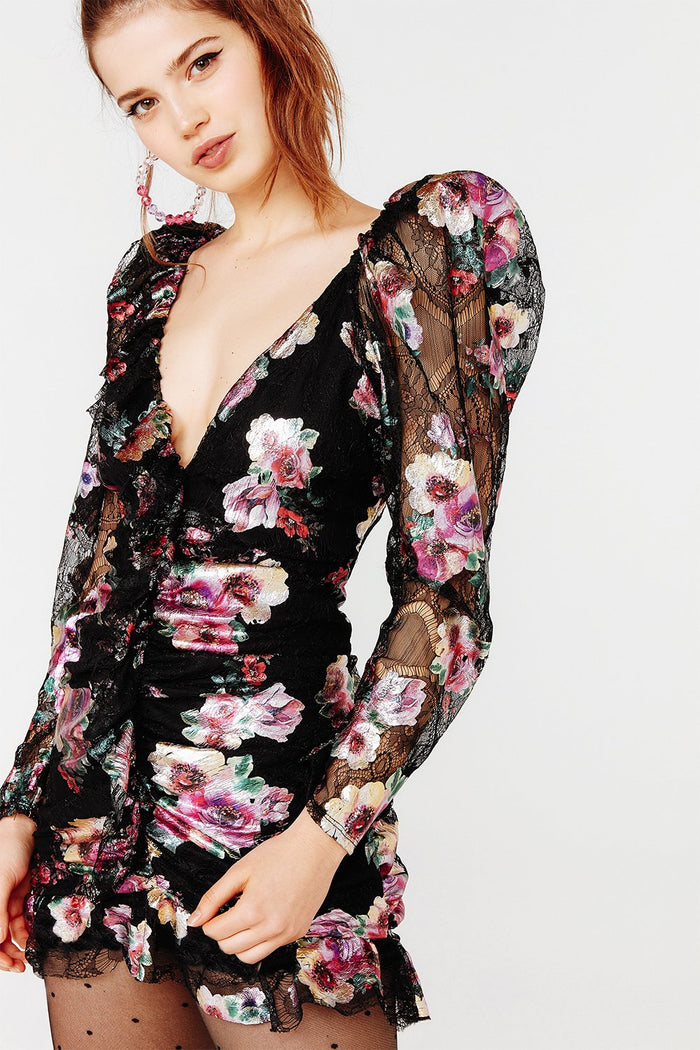 For Love & Lemons | Benetar Ruffle Mini Dress