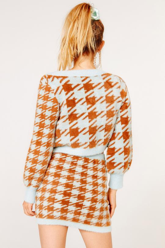 For Love & Lemons | Cher Houndstooth Cardigan
