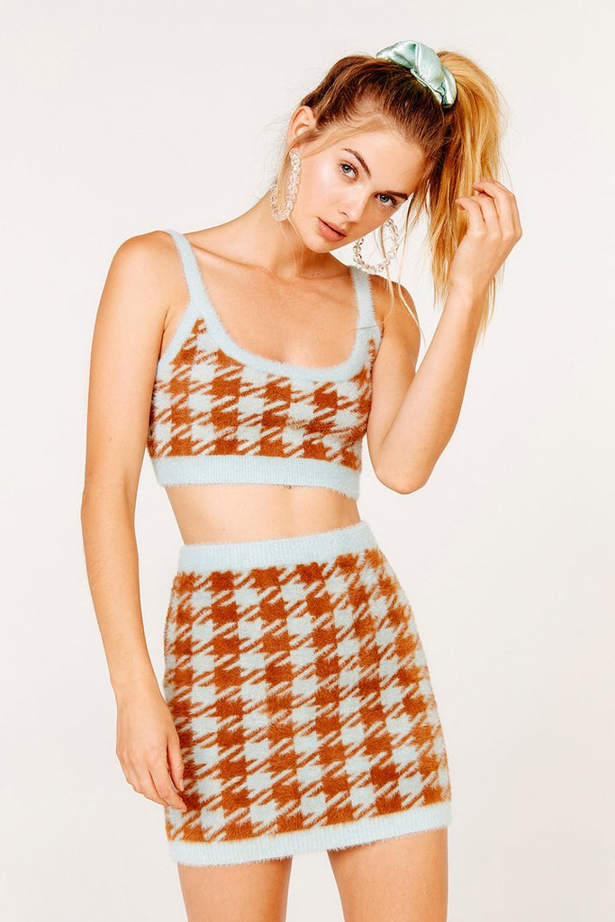 For Love & Lemons | Cher Houndstooth Tank Top