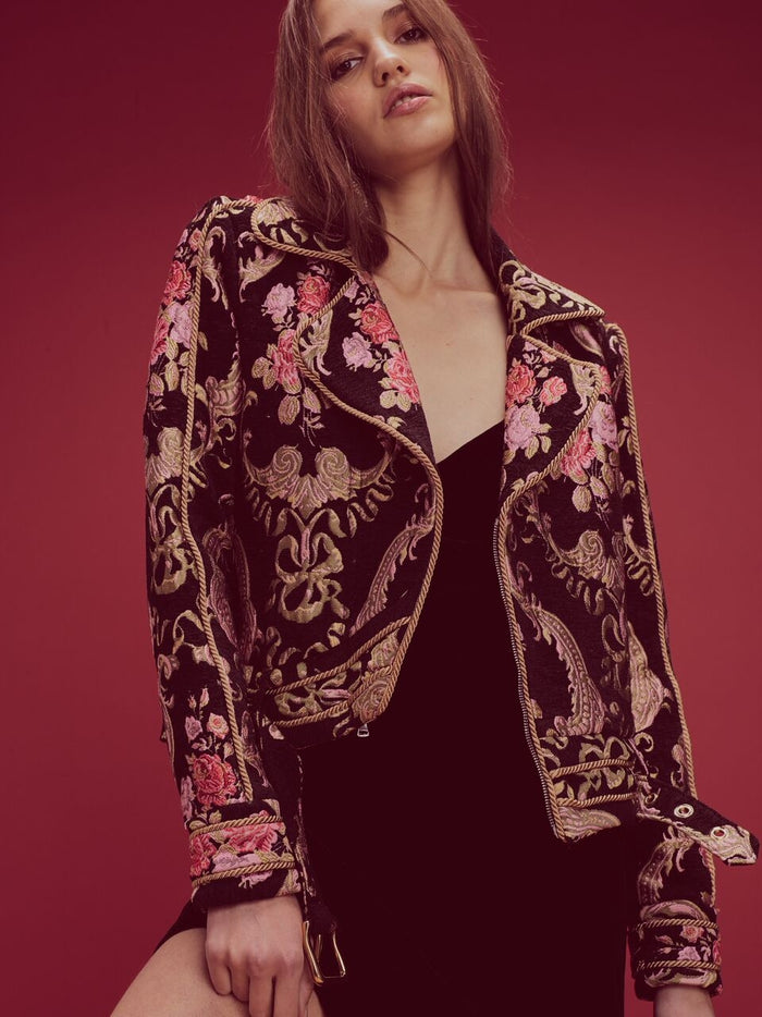For Love & Lemons | Brocade Moto Jacket