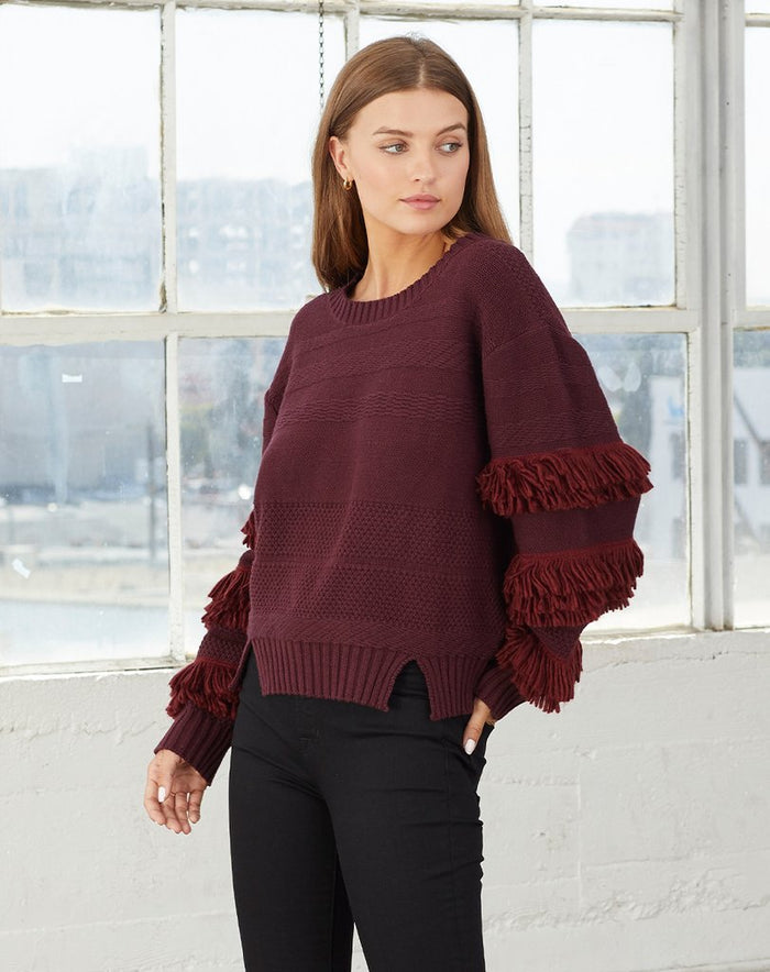Cleobella | Fringe Sweater Port