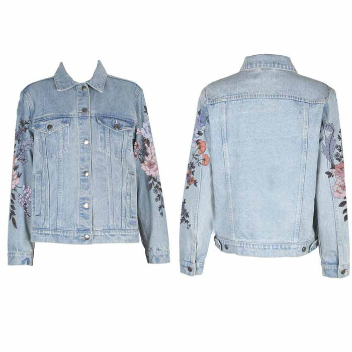 MINKPINK | Embroidered Wild Flower Denim Jacket