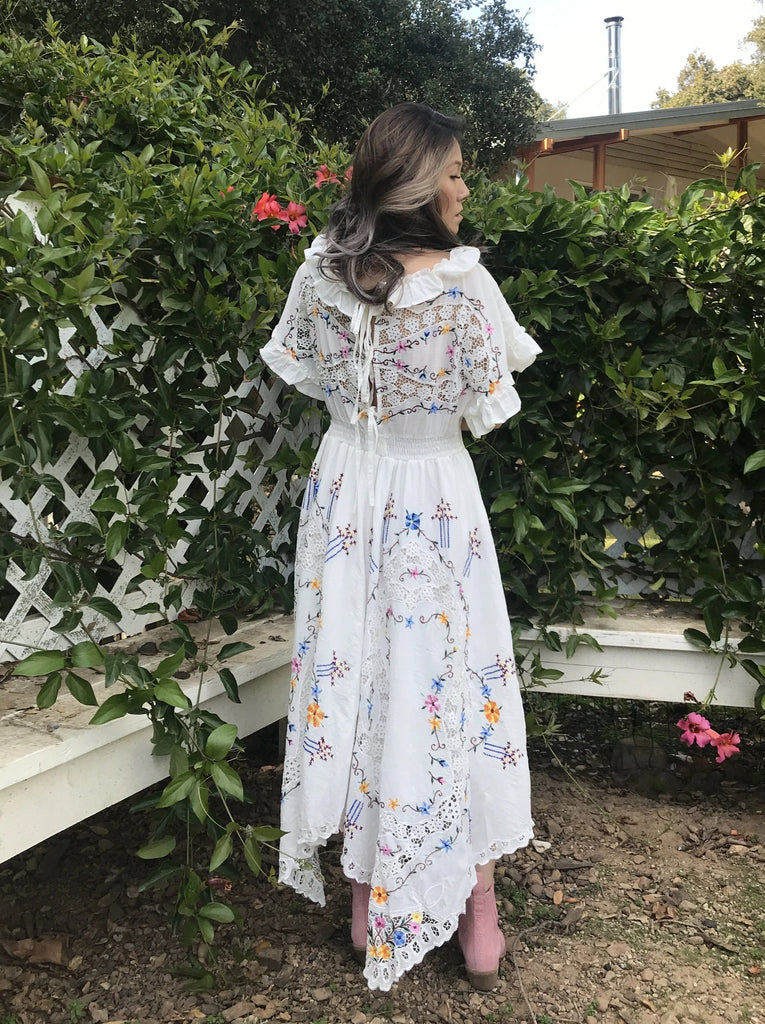 Fillyboo | Once Upon A Song Embroidered Batwing Dress