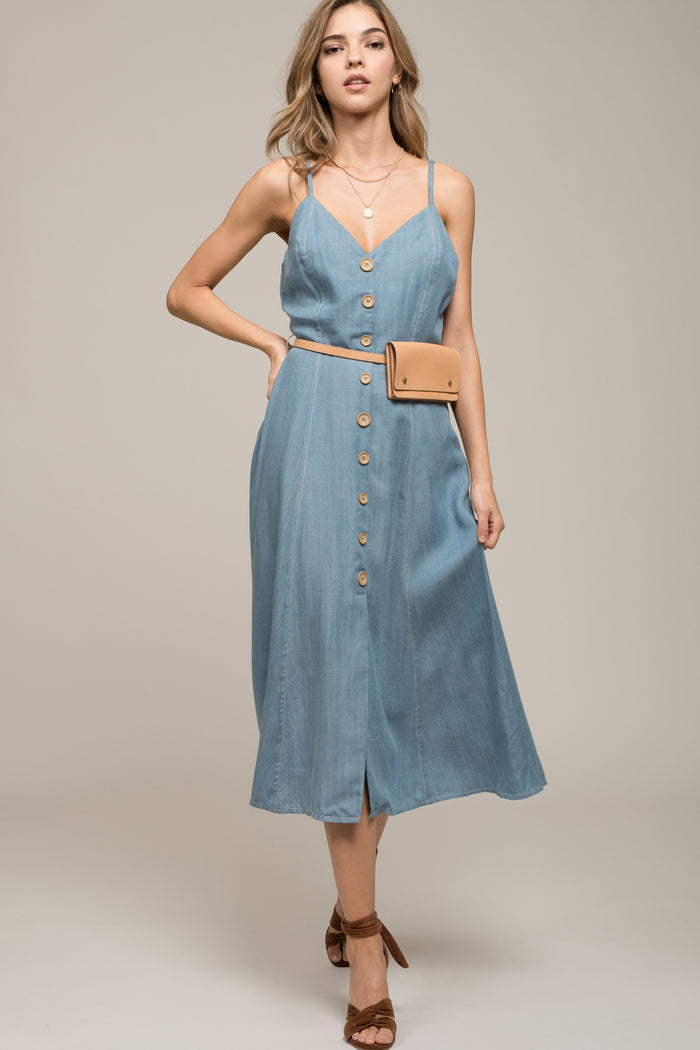 Moon River | Denim Sleeveless Dress