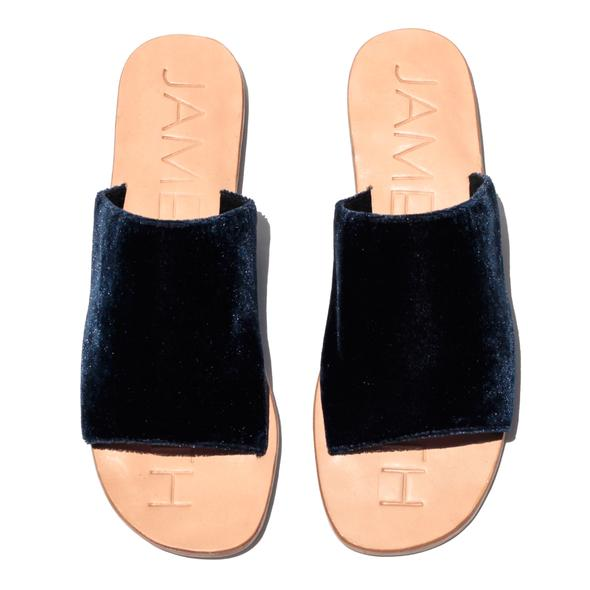 James Smith |  Off Duty Sandals in Navy Velvet