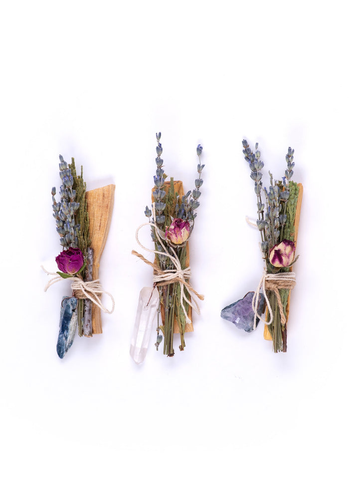 J. Southern Studio | Palo Santo Flora Bundle with Quartz Point