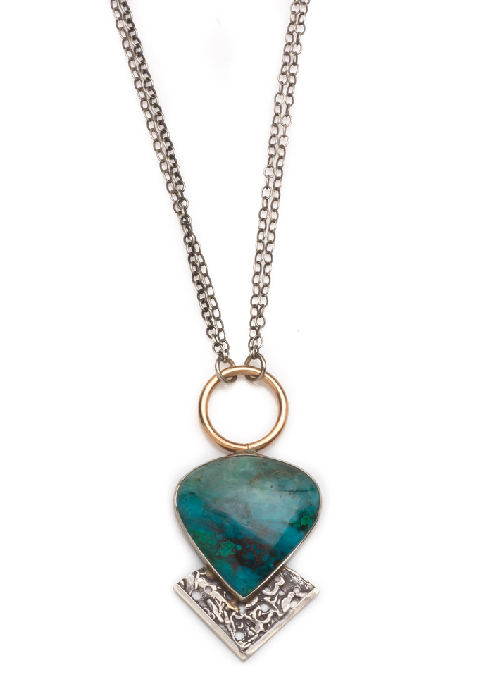 Jivita Jewelry | Chrysocolla Necklace