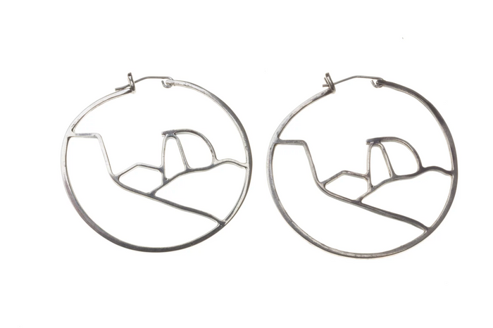Jivita Jewelry | Half Dome Hoops