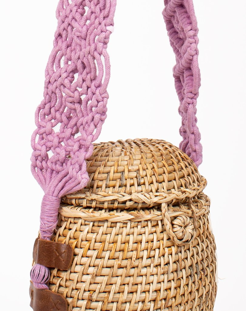 Cleobella | Vicente Basket Bag in Lavender