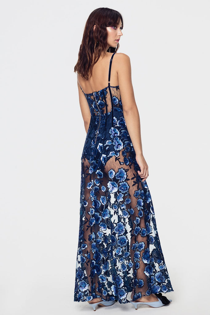 For Love & Lemons | Victoria Embroidered Maxi Dress
