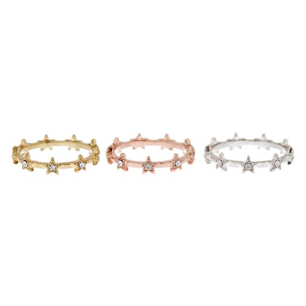 LUV AJ | Pave Star Ring Set