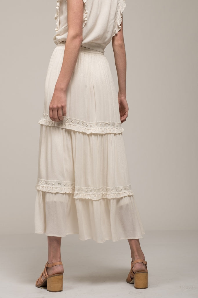 Moon River | Tiered Maxi Peasant Skirt