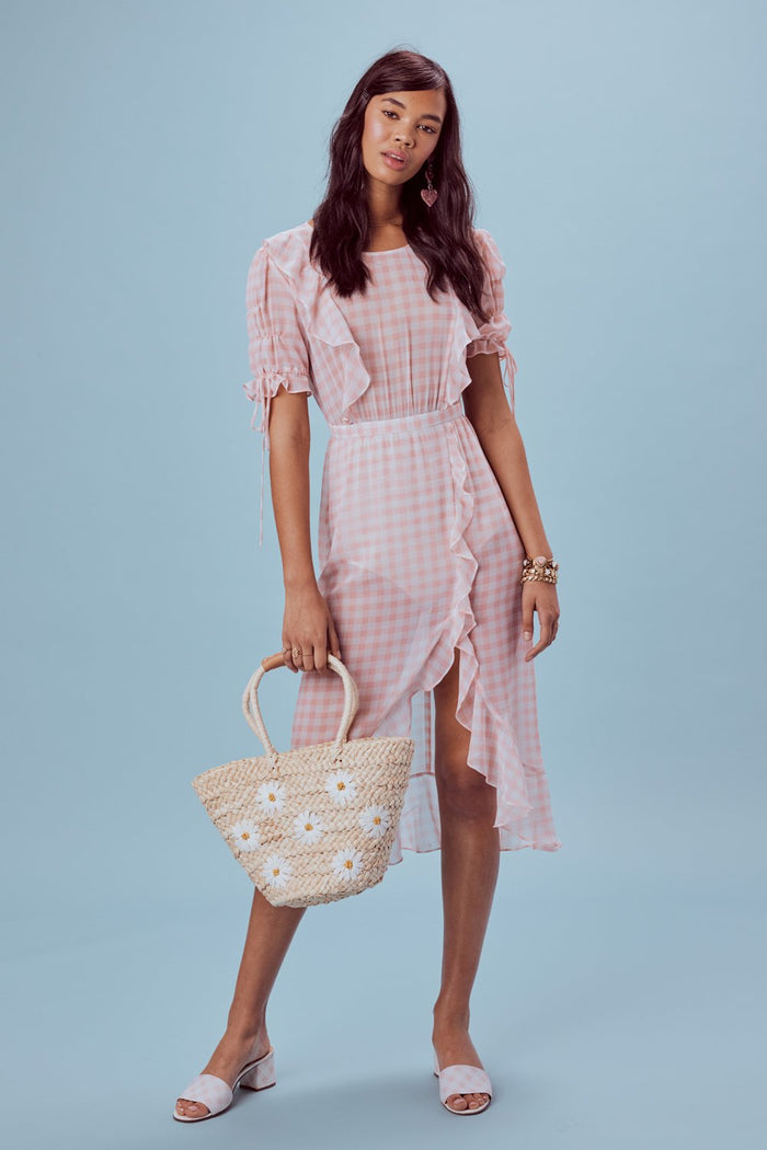 For Love & Lemons | Dorothy Ruffle Midi Dress