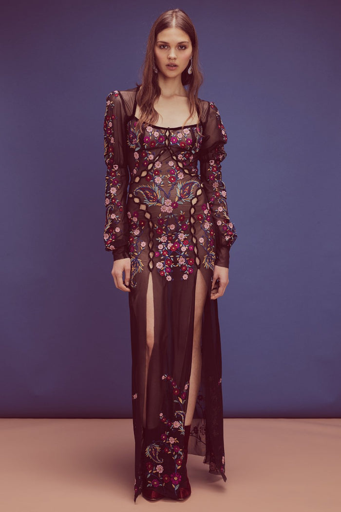 For Love & Lemons | Ester Embroidery Maxi Dress