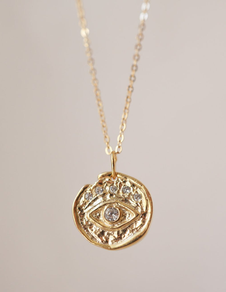 Kindred Row | Evil Eye Medallion Necklace