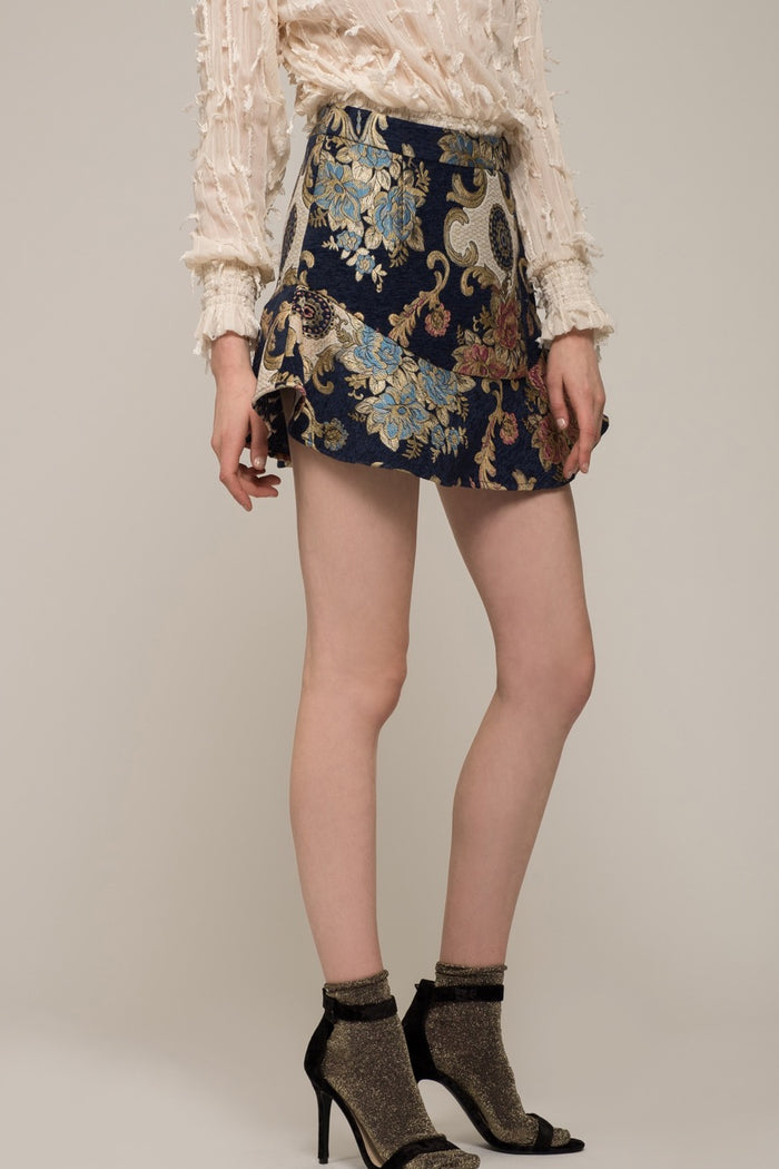 Moon River | Jacquard Mini Skirt