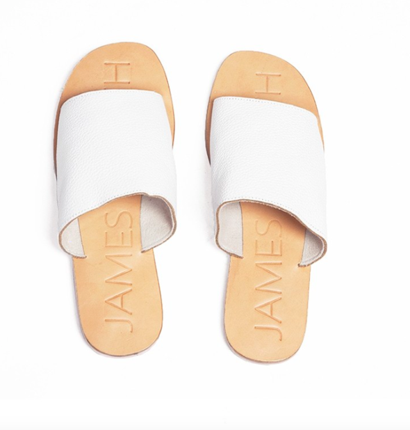 James Smith | Off Duty Sandals in White