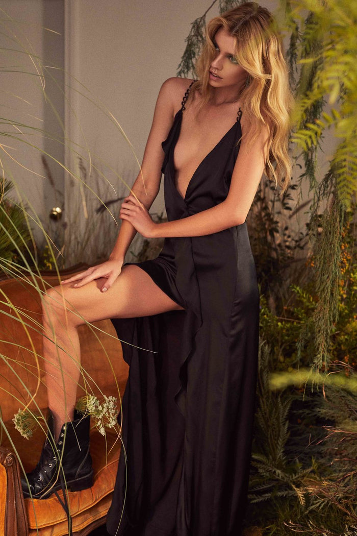For Love & Lemons | Isabella Ruffled Maxi Dress