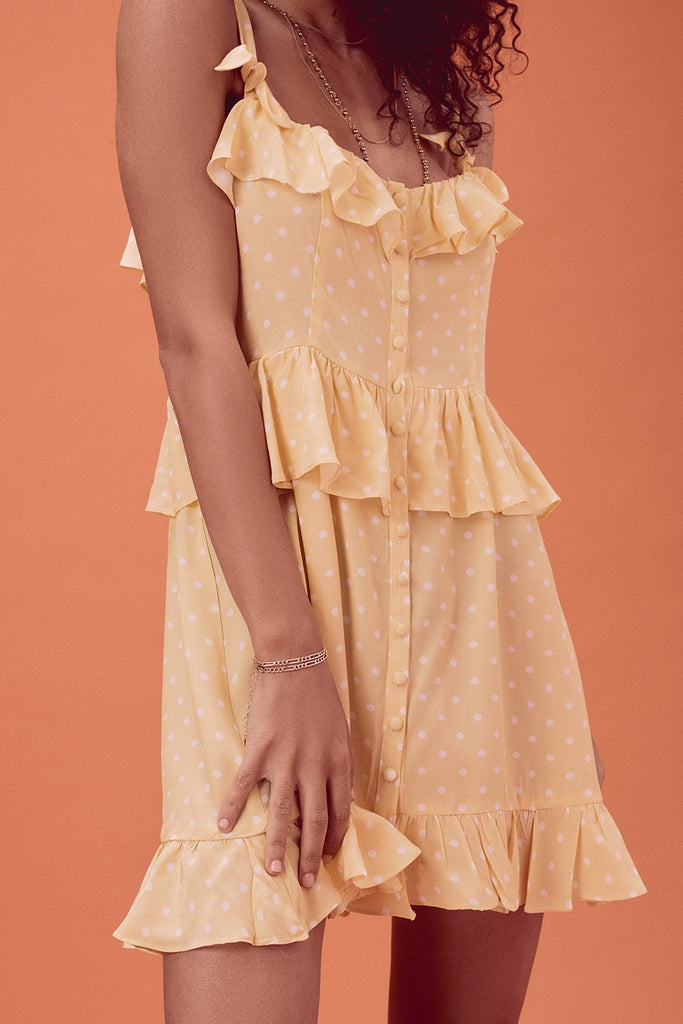 For Love & Lemons | Limoncello Mini Dress