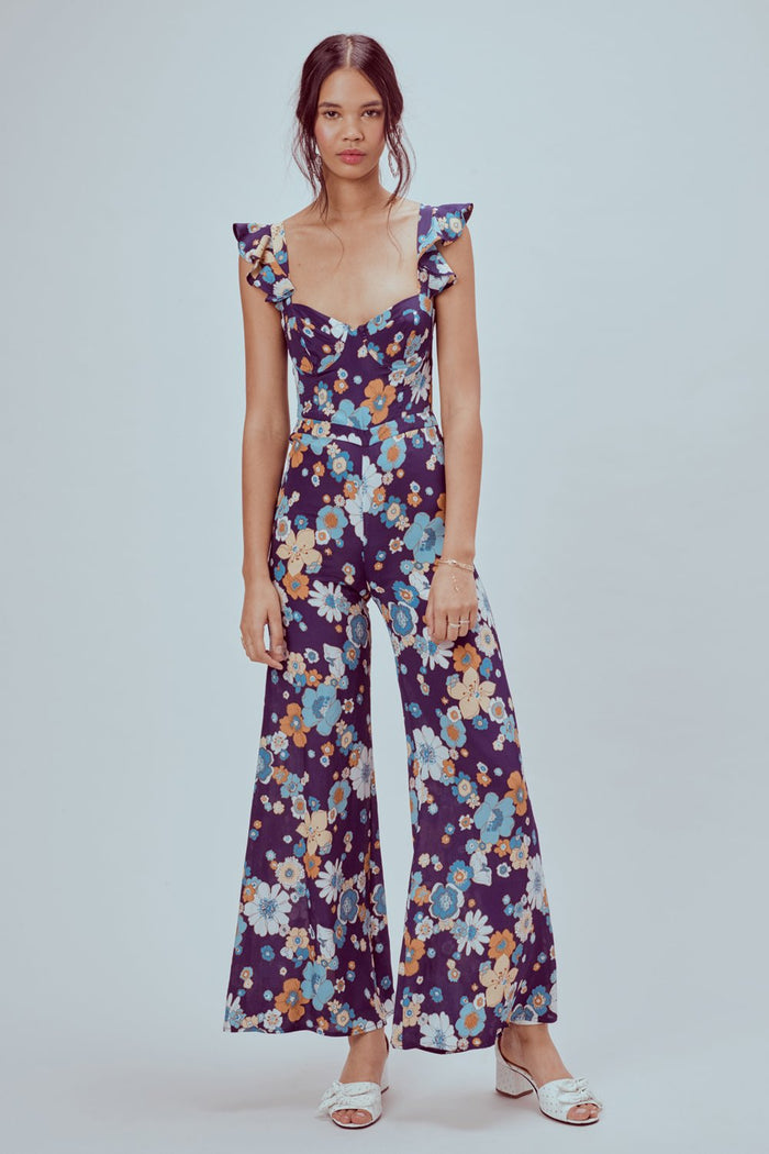 For Love & Lemons | Magnolia Ruffled Jumpsuit
