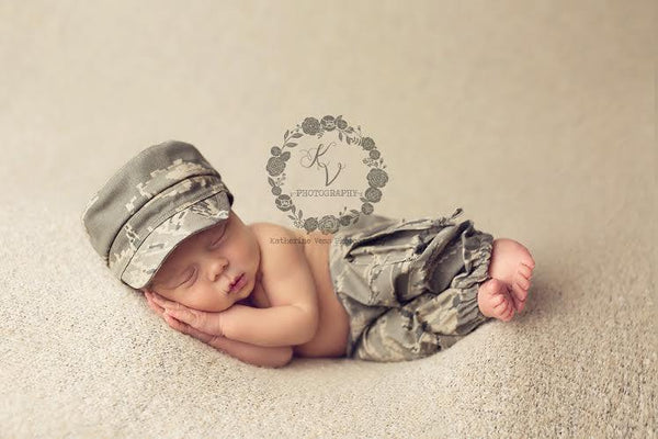 Lil' Trooper ~ Air Force, Pants, hat, skirt and headband - No. 2 Willow Lane