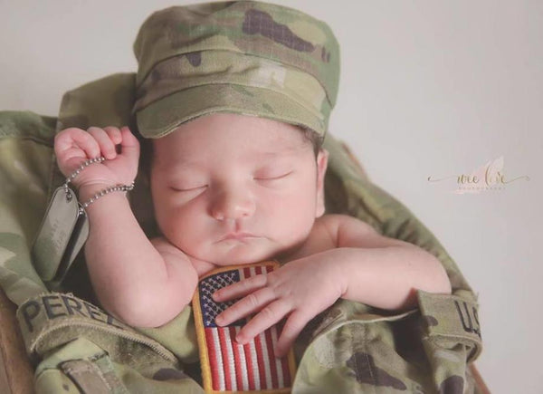 Army - Military {newborn/sitter}, Pants, hat, skirt and headband - No. 2 Willow Lane