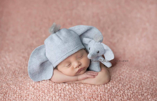 Elephant lovie and/or hat, Lovie and Beanie - No. 2 Willow Lane
