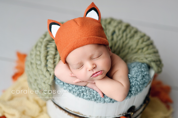 Fox lovie and/or hat, Lovie and Beanie - No. 2 Willow Lane