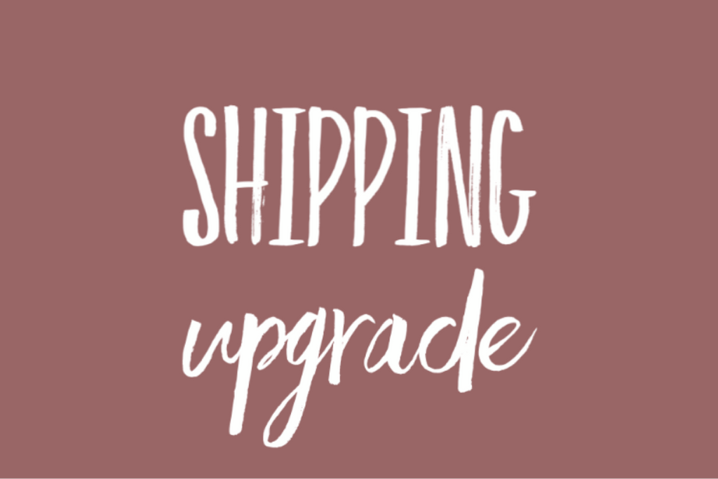 SHIPPING UPGRADE {existing orders only}, Newborn - No. 2 Willow Lane