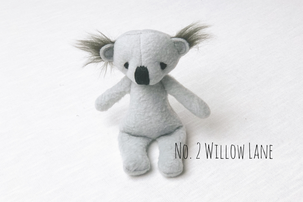 Koala bear lovie and/or hat, Lovie and Beanie - No. 2 Willow Lane