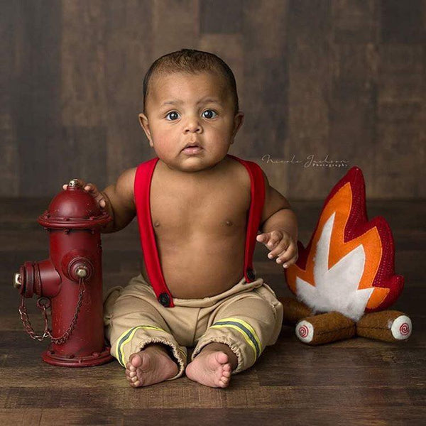 Lil' Firefighter {newborn or sitter} SALE,  - No. 2 Willow Lane
