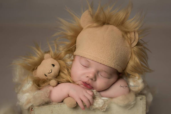 Lion mini lovie and/or hat, Lovie and Beanie - No. 2 Willow Lane