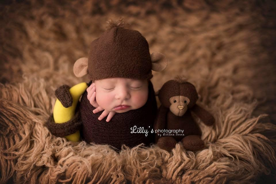 Monkey lovie and/or hat, Lovie and Beanie - No. 2 Willow Lane