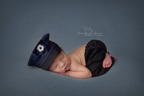 Lil' Officer {boy/girl}, Pants and hat - No. 2 Willow Lane