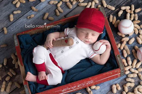 Lil' Slugger newborn, Pants and hat - No. 2 Willow Lane