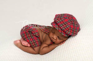 Perfectly Plaid for him, Shorts and hat - No. 2 Willow Lane