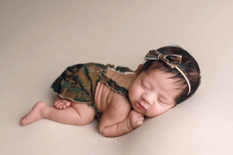 Lil' Trooper ~ Marine {newborn/sitter}, Pants, hat, skirt and headband - No. 2 Willow Lane