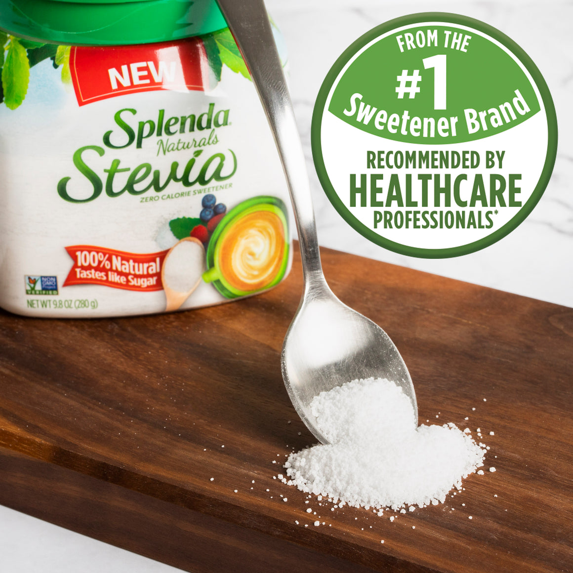 SPLENDA® Stevia Sweetener Table Top Jar
