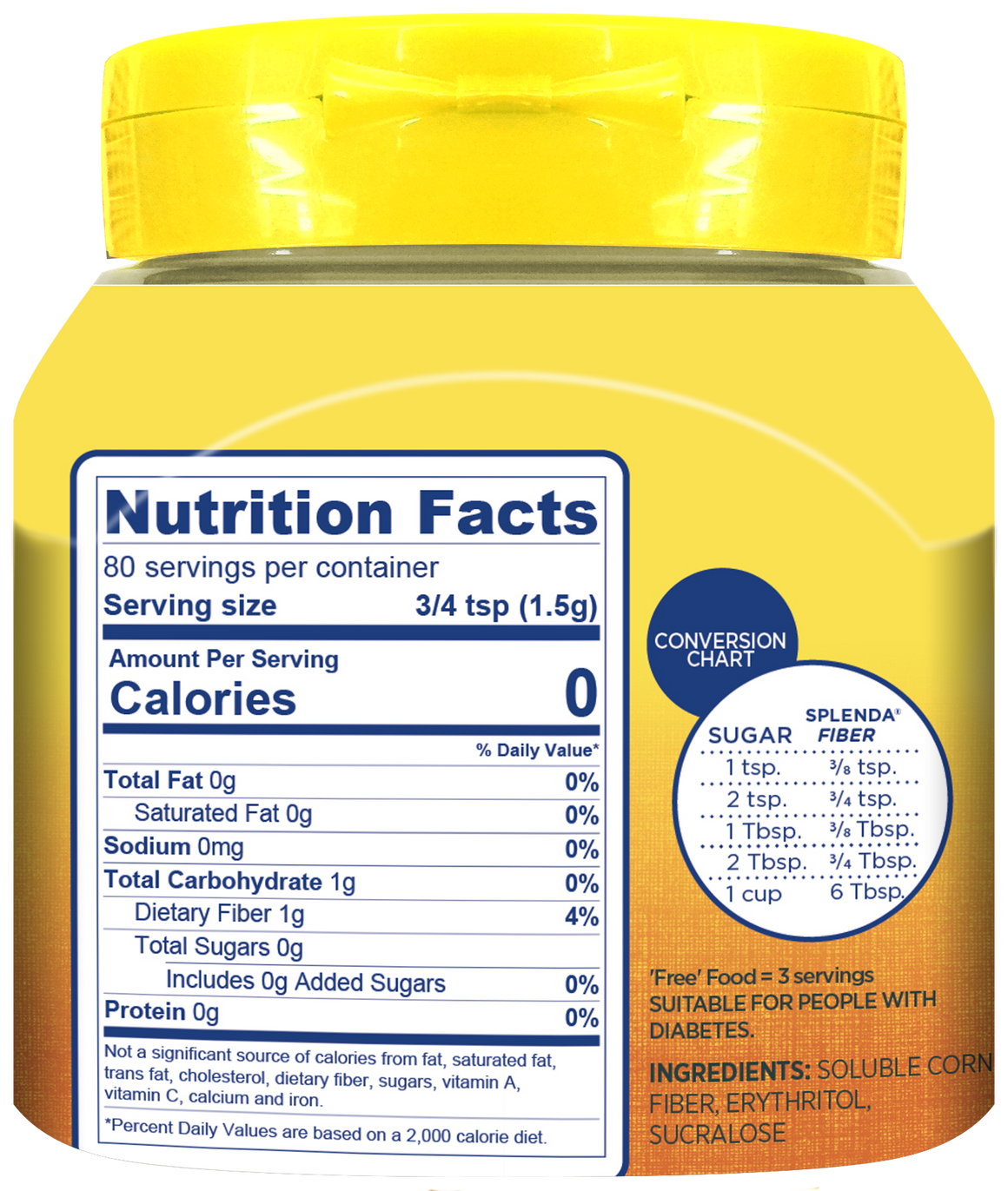 Splenda® Sweetener With Fiber, Jar
