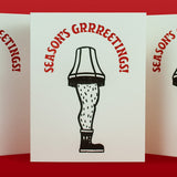 Season's Grrrrreetings Letterpress Card