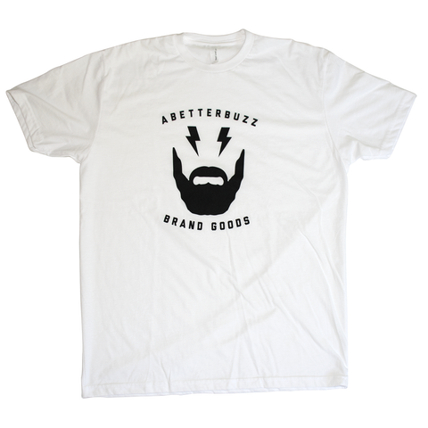 Beard Logo - White