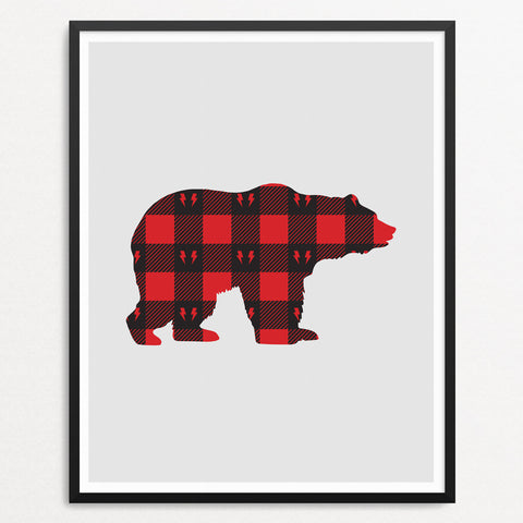 Bear - Plaid (8x10)