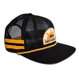 Wake N Bake Stowaway Cap - Black / Gold Stripes