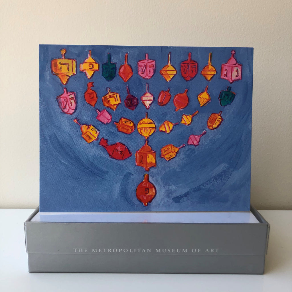 Dreidel and Menorah Boxed Card Set of 20