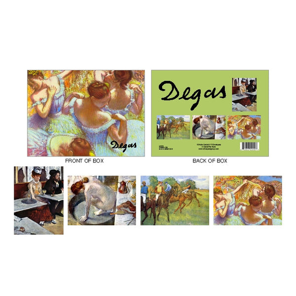 Edgar Degas Boxed Notecard Set