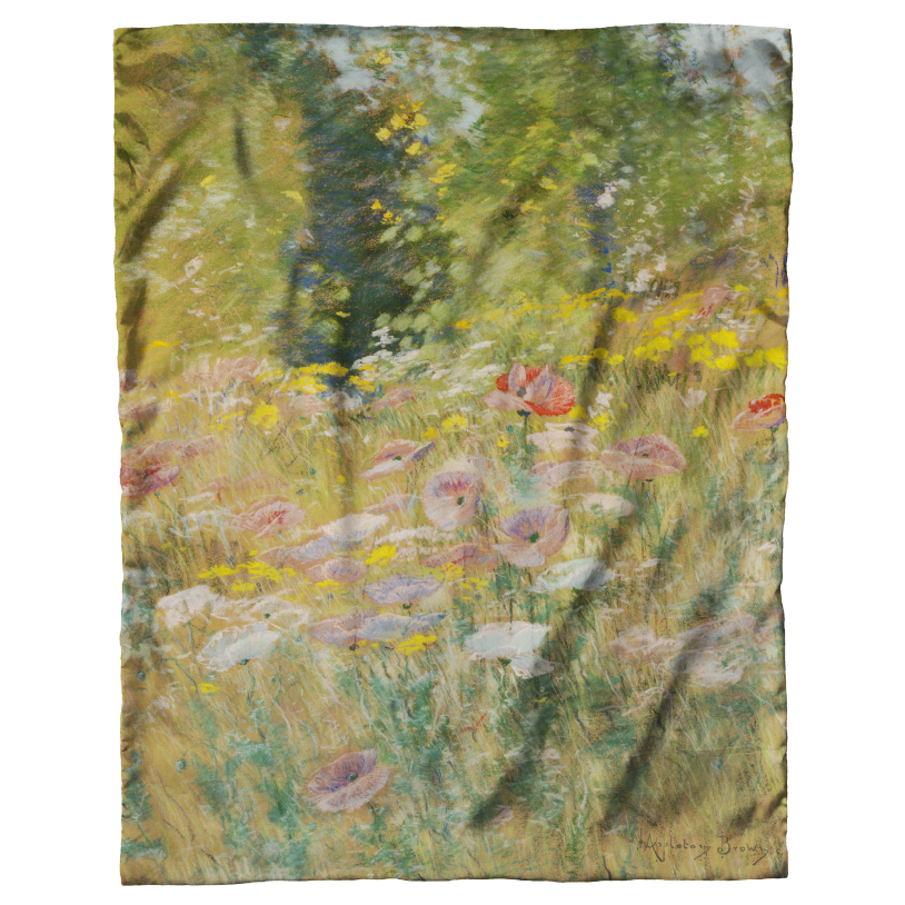 Garden of Poppies Scarf by John Appleton Brown